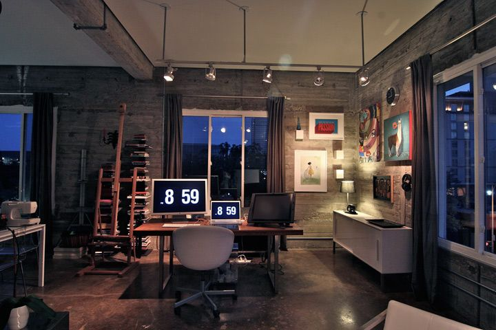 Shyama Golden's loft/office. Cozy and warm.