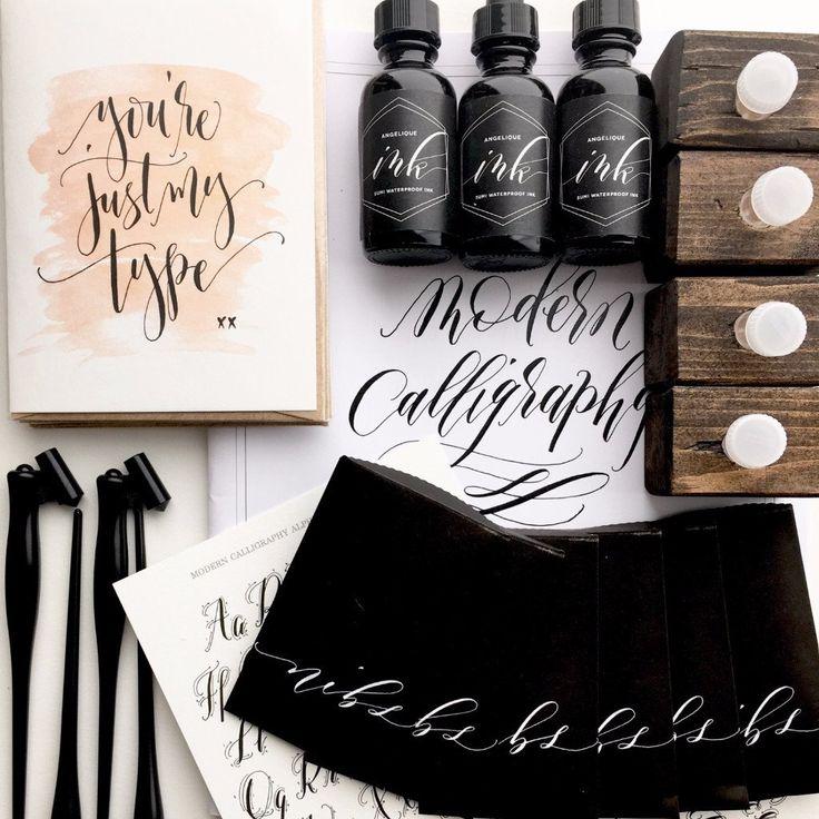 Calligraphy starter kit left handed learn