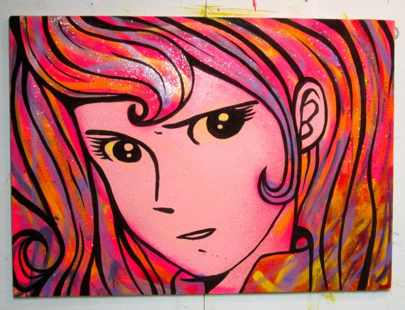 Fujiko    89x64 cm di barbamars su Etsy