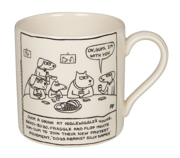 Victoria Armstrong -              Dogs Against Silly Names - from a Cartoon by Rupert Fawcett, £15.95 (http://www.victoriaarmstrong.co.uk/dogs-against-silly-names-from-a-cartoon-by-rupert-fawcett/)