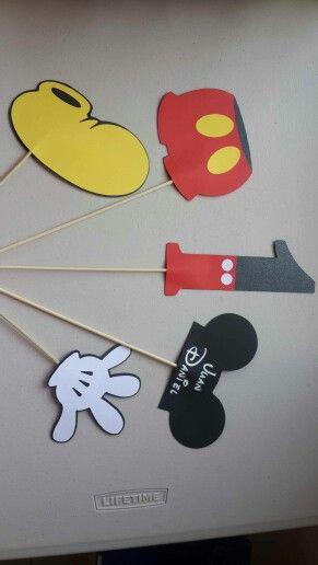Pinchos para centro de mesa Mickey Mouse