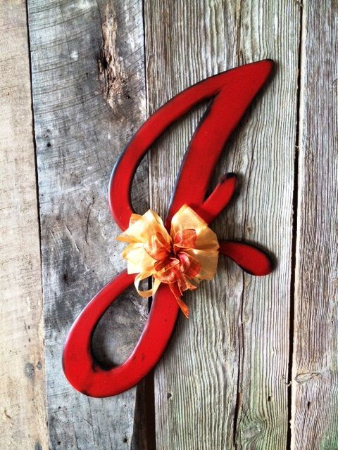 Wooden Door Hanger Letter J Astoria Font by RKDragonfly on Etsy, $47.95
