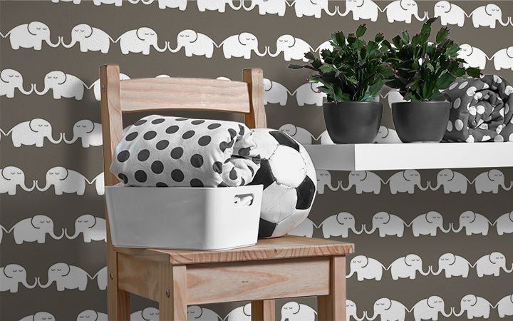 Tapete Elephants, for him - Designer Tapeten DecorPlay