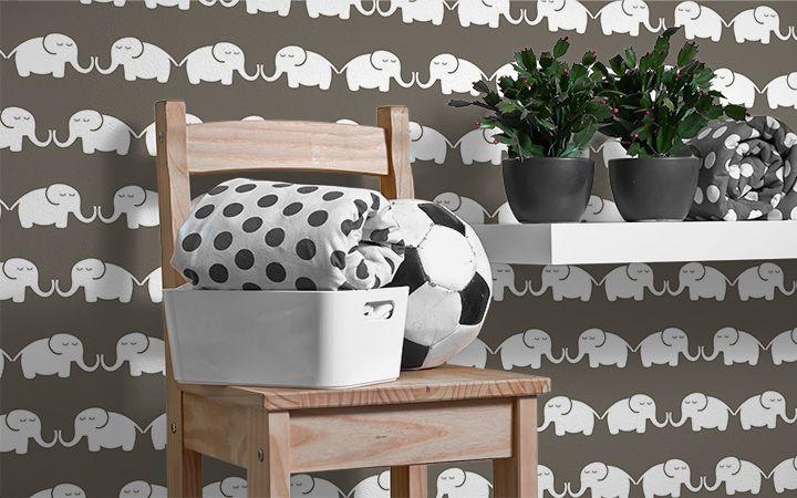 Tapete Elephants, for him - Designer Tapeten DecorPlay