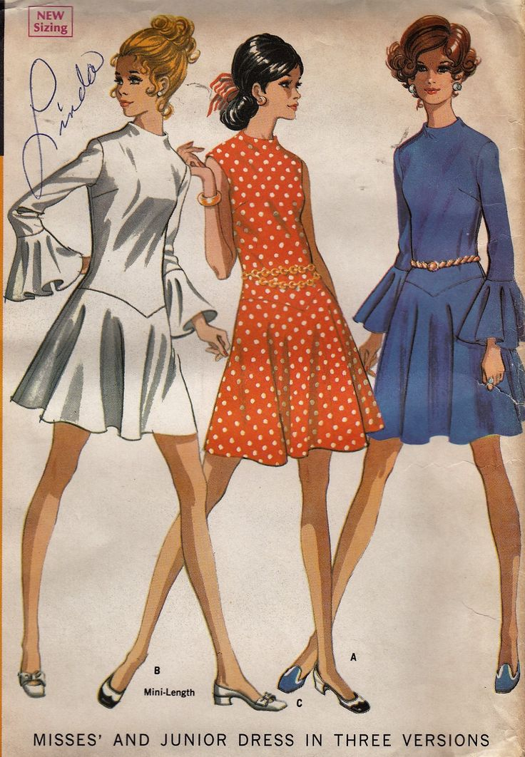 """25% OFF 1960's Dropped Waist Mini Dress Women's Sewing Pattern McCall's 9538 Bust 34"""" by Sutlerssundries on Etsy"""