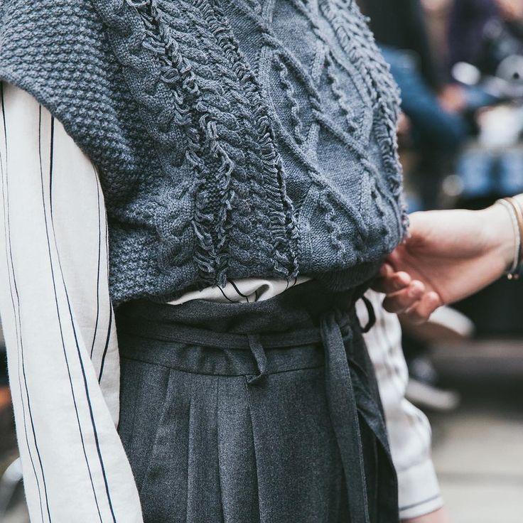 #Sisley #Sisleyfashion #FW2016 #woman #trend #collection #fashion #backstage #knitwear #grey