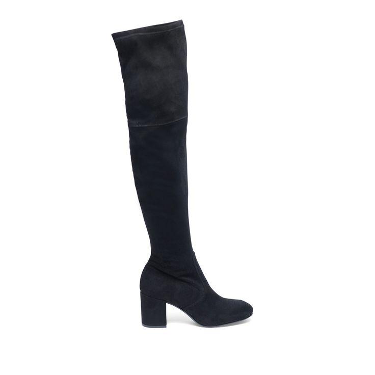 Zwarte overknee laarzen #overknee laarzen #laarzen #heels