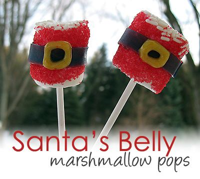 Santa's Belly Marshmallow Pops