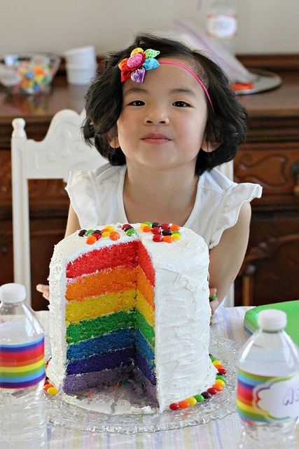 Rainbow birthday party ideas and decorations