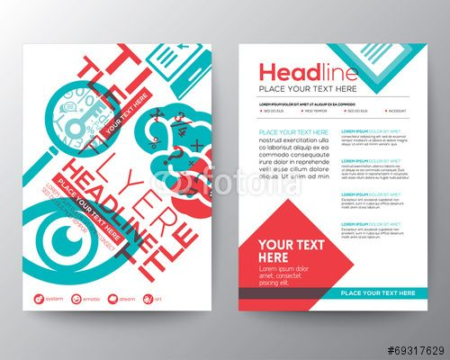 Wektor: Education Brochure Flyer design Layout template in A4 size