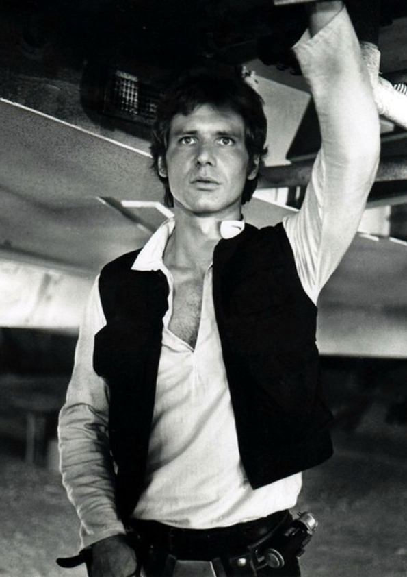 """Harrison Ford - Star Wars July 13, 1942 in:Chicago Heights (IL) (United States) Sun: 20°38' CancerAS: 2°45' Libra Moon:22°46' CancerMC: 3°12' Cancer Dominants: Cancer, Gemini, Libra Mercury, Jupiter, Moon Houses 10, 9, 12 / Water, Air / Cardinal Chinese Astrology: Water Horse Numerology: Birthpath 9 Height: Harrison Ford is 6' 1"""" (1m85) tall"""