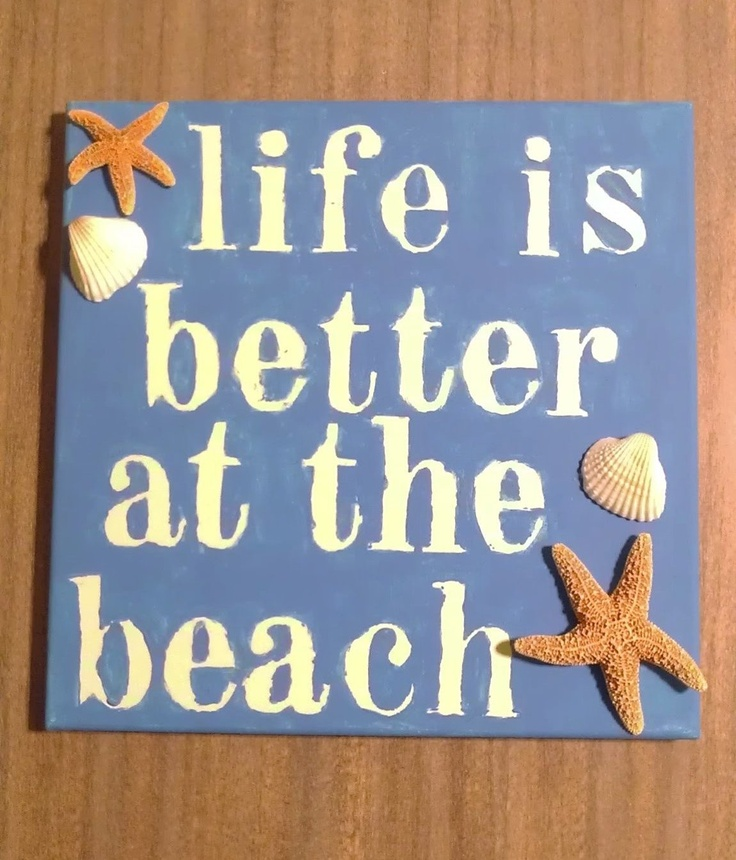"""DIY Painted Canvas """"Life is Better at the Beach""""  Jolie Emily: A Lifestyle and Beauty Blog"""
