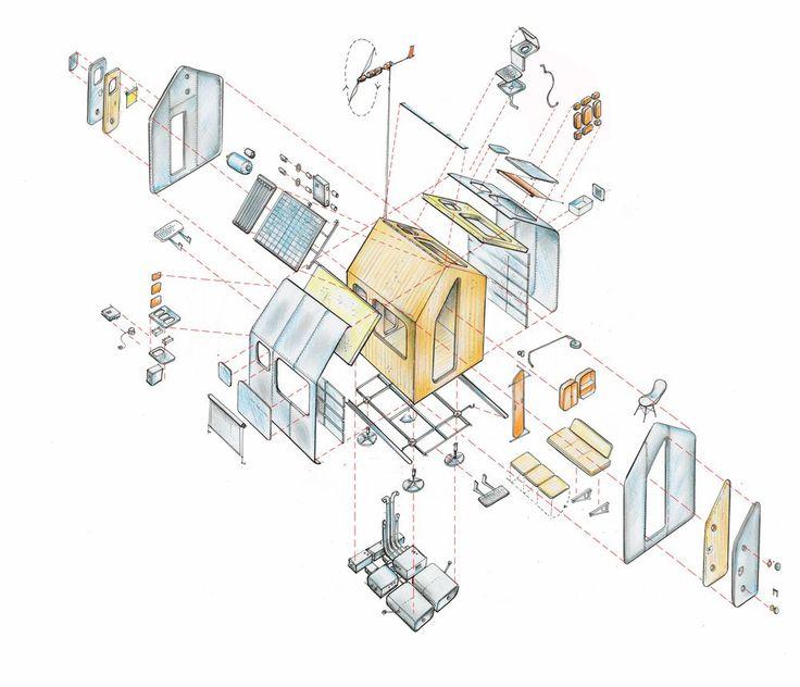 Vitra's Diogene Cabin, Designed by Renzo Piano - Minimal Housing - Energy Efficiency  - Flexibility