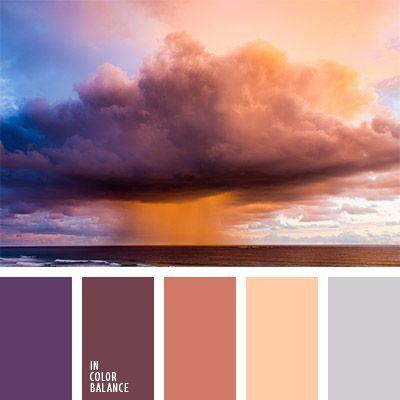 beige, burdeos, color beige anaranjado, color cielo al atardecer, color guinda, color melocotón, color puesta de sol naranja, color puesta de sol sobre el mar, color puesta del sol en el mar, colores de la puesta del sol, colores de la puesta del sol lila, de color violeta, elección del color, gris y marrón, tonos marrones.