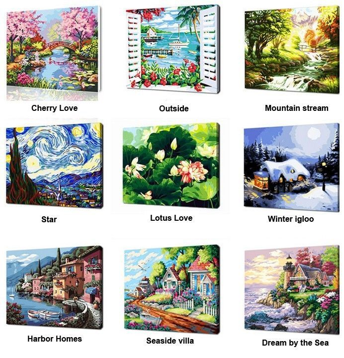 DIY Paint By Numbers 40X50CM 16X20'' kit Acrylic Painting Home Décor PBN G04 #lovelyhome4you