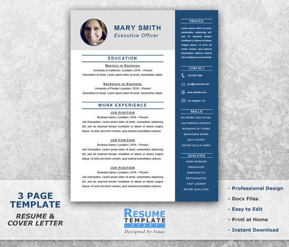 Executive Resume Templates Word  Resume Template And Professional