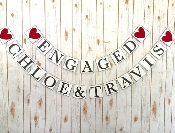 ENGAGEMENT BANNER, engaged sign, engagement sign, engaged banner, engagement name banner, engaged name sign, wedding banner, wedding decor