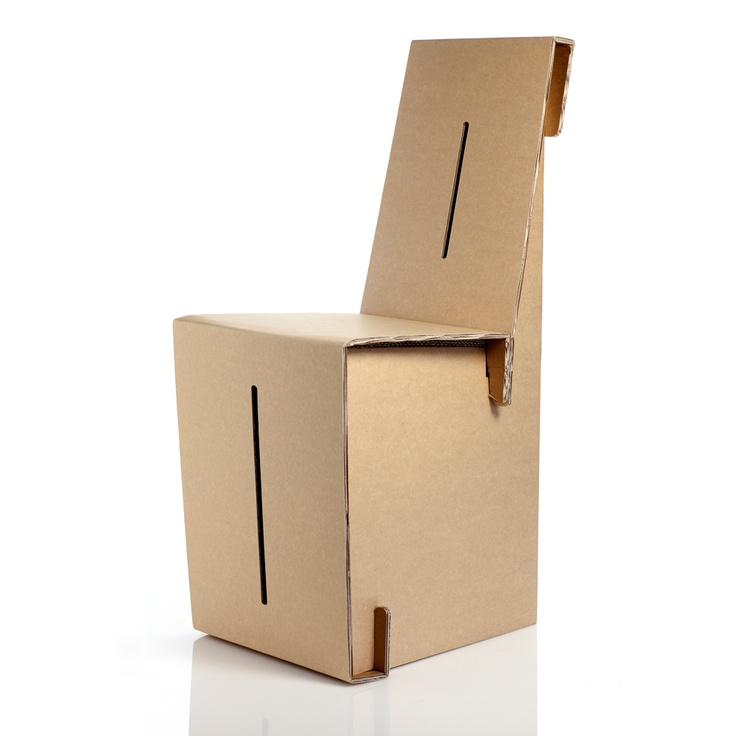 Chair Plus vista 3/4.  #kshop #mobili #cartone #ecologico #sostenibile #design #arredamento #sedia