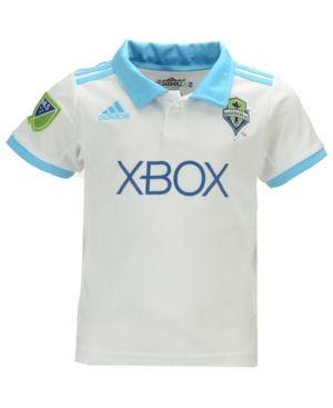 adidas Women's Seattle Sounders Fc Secondary Replica Jersey - White/Cyan XL