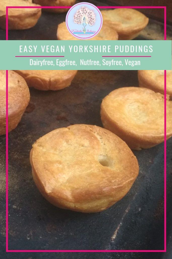 Easy Vegan Yorkshire Puddings Peachicks Bakery Recipe Vegan Yorkshire Pudding Yorkshire Pudding Recipes Yorkshire Pudding