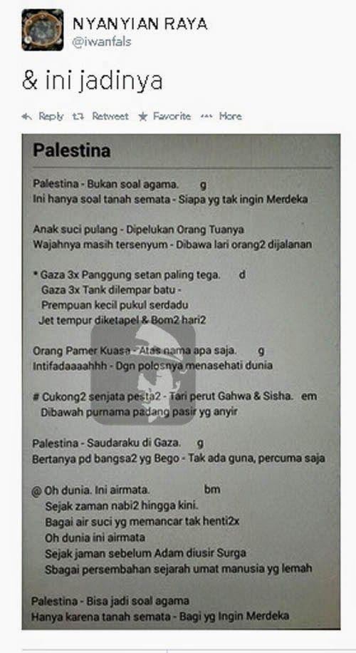 Lagu Iwan Fals Palestina .  #iwanfals #palestina #kaosiwanfals