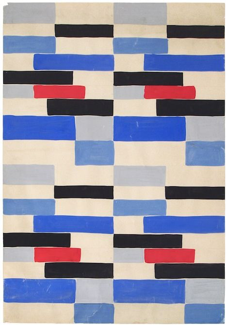 sonia delauney (red, white and blue and a bit of black: why does this remind me of the old covers they used on the tubes upholstery)                                                                                                                                                      More