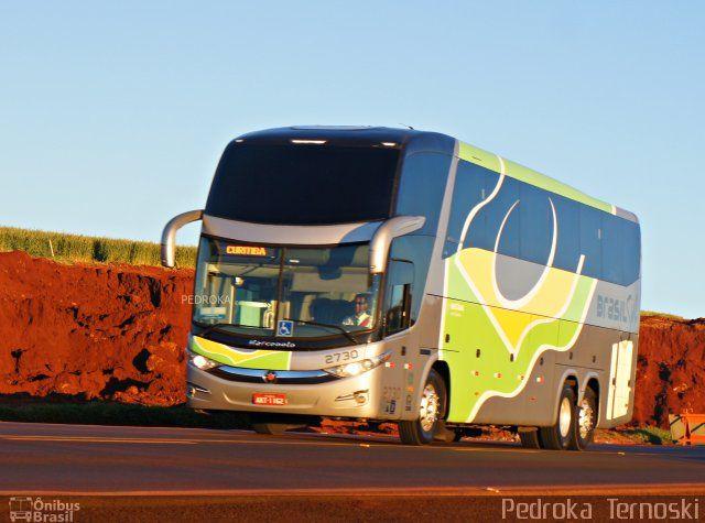 Ônibus da empresa Brasil Sul Linhas Rodoviárias, carro 2730, carroceria Marcopolo Paradiso G7 1600 LD, chassi Mercedes-Benz O-500RSD BlueTec 5. Foto na cidade de Apucarana-PR por Pedroka  Ternoski, publicada em 12/08/2016 21:11:21.