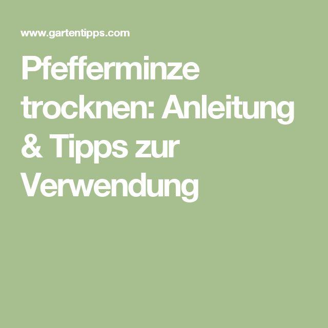 Pfefferminze trocknen: Anleitung & Tipps zur Verwendung