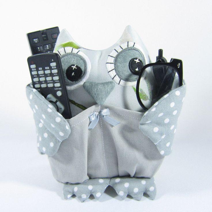 Hibou range-télécommande, lunettes, stylos, téléphone portable, autres accessoires. : Accessoires de maison par mlle-chichi