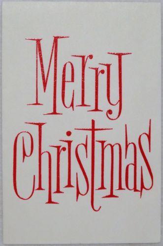 #1261 60s Hallmark Mid Century Graphics- Vintage Christmas Greeting Card