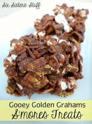 Gooey Golden Graham Smores Treats on SixSistersStuff.com - these are my favorite!