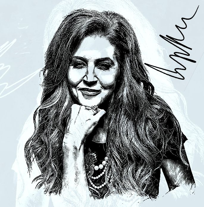 Lisa Marie Presley is an American singer, songwriter and actress. She is the daughter of musician-actor Elvis Presley and actress and business magnate Priscilla Presley.