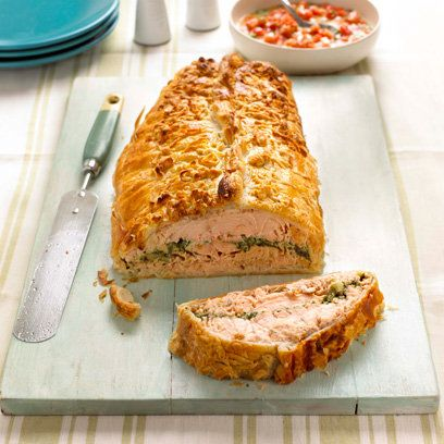 Mary Berry's Salmon En Croute would make a fabulous centrepiece, great for those who don't eat meat