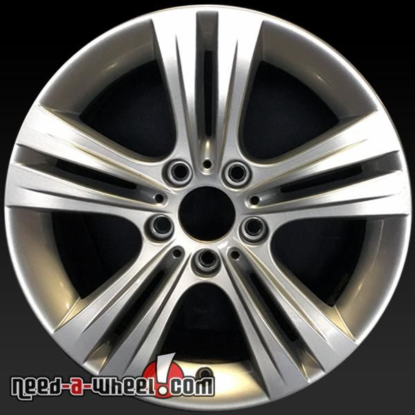 "2012-2016 BMW OEM wheels for sale. 17"" Silver stock rims 71534 #bmw, #bmw320I, #bmw328I, #bmw335I, #bmwwheels, #bmw428I, #bmw435I, #oemwheels, #Activehybrid-3, #factorywheels http://www.need-a-wheel.com/rim-shop/17-bmw-wheels-oem-silver-71534/"