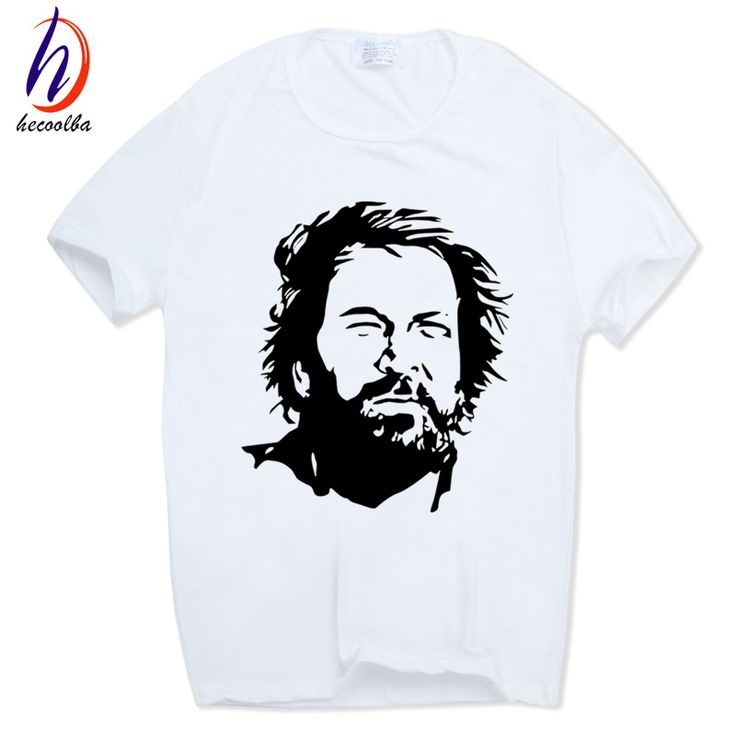 Hecoolba 2017 Men Print BUD SPENCER T-shirt Short Sleeve O-Neck Summer Casual Fashion T shirt Camisetas Swag HCP666