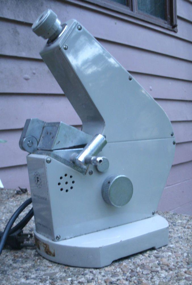 Fisher Scientific Company Refractometer,metal,gray,vintage 1980s -lab instrument #FisherScientific