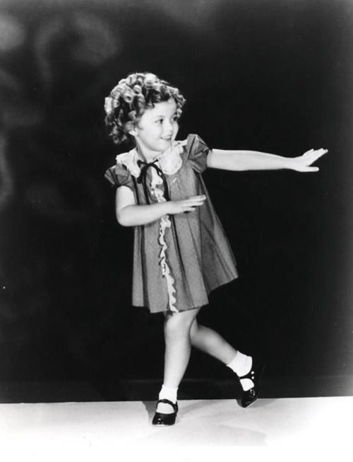 Shirley Temple doing her famous little tap dance  ... RIP.....Shirley passed away Feb 10th, 2014 ....She was such a huge part of our lives growing up. All her movies, I remember so well!