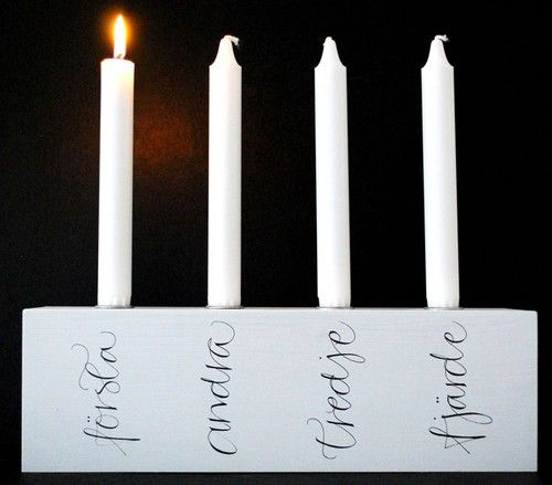 Candle holder for Christmas by Ylva Skarp. Adventsljusstake