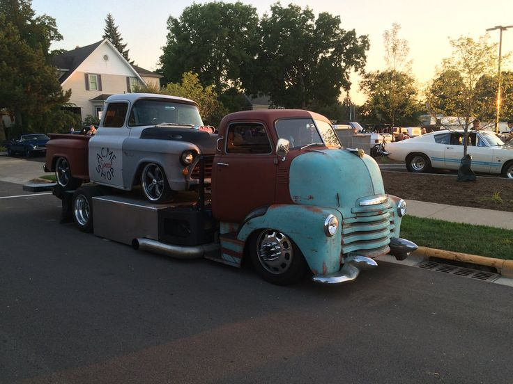 Chevy Coe Car Hauler With A Cool Flatbed Idea Pic 2 Vehicles