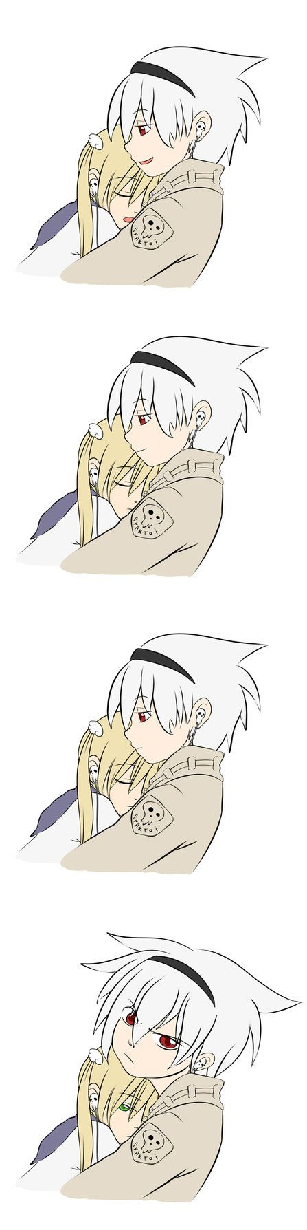 """Soul's face in the last one's like """"Go away! This is MY Maka!!""""- Super Nice Guy by yookeeah on DeviantArt"""