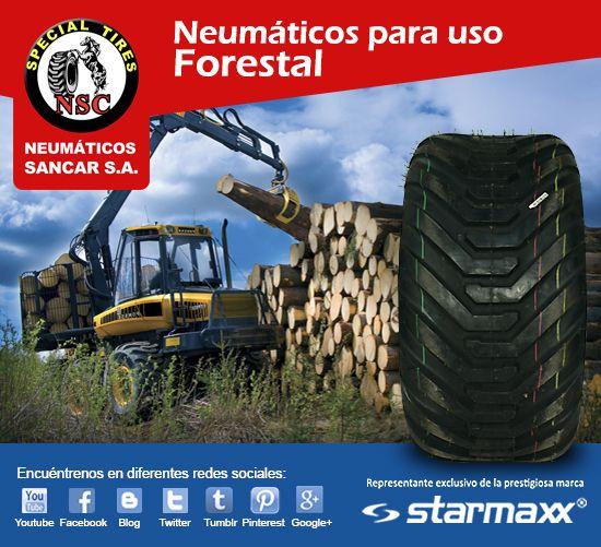 Aprovecha Precios Insuperables en Neumáticos Starmaxx para uso Forestal.  Encuéntrelos en www.sancar.cl