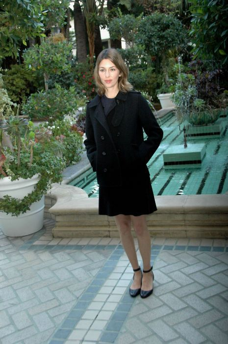 Sofia Coppola in a perfect little coat