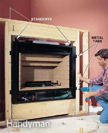 building a fireplace for an electric insert | How to Install a Gas Fireplace: The Family Handyman