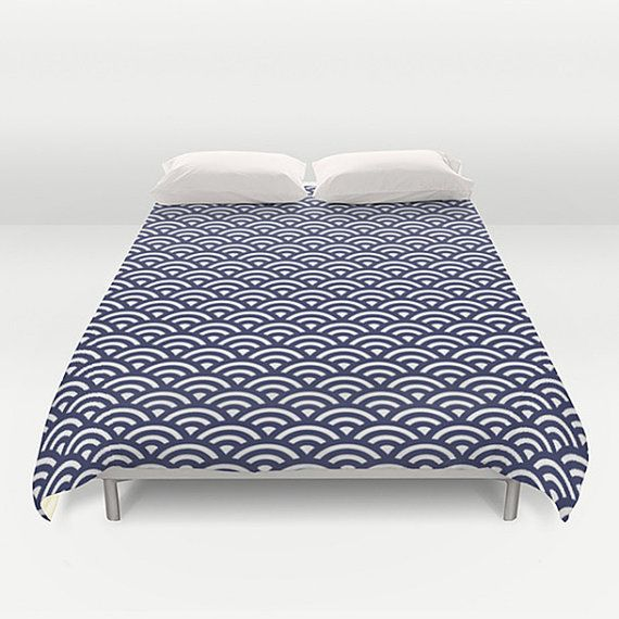 Original duvet cover with authentic Japanese Wave design. Vintage duvet cover*.  • Available in Full, Queen and King Size • Hand sewn and