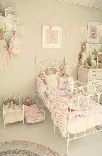 Shabby chic bedroom for a little girl home pinterest - Little girls shabby chic bedroom ...