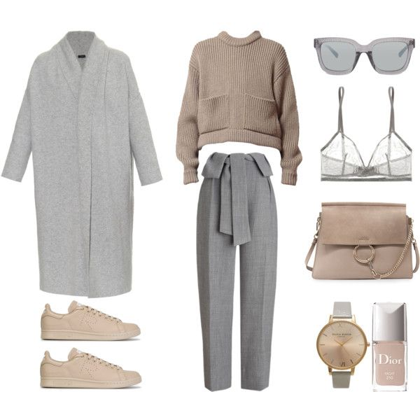 A fashion look from November 2015 by fashionlandscape featuring Joseph, Whistles, Eres, adidas, Chloé, Topshop, 3.1 Phillip Lim und Christian Dior