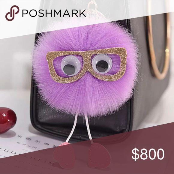 C o m i n g • S o o n New in package. Nerdy & sassy purple Pom Pom. Very cute! Slip onto your keys or favorite bag.   Size: 8cm  { Posh Ambassador } { 700+ Sales }   | No Trades | Accessories Key & Card Holders