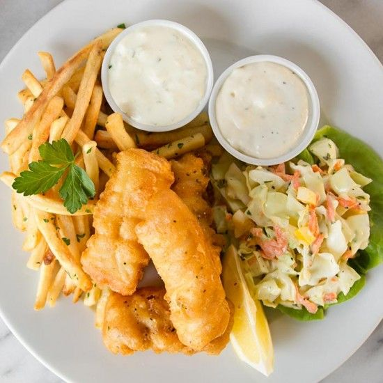 Beer-Battered Fish and Chips recipe from Nordstrom. Photo by Jeff Powell.