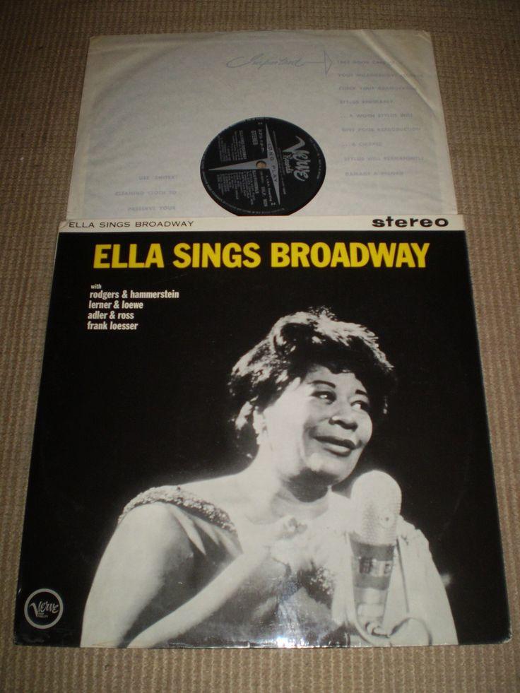 Ella Fitzgerald sings Broadway Vinyl LP Album, Jazz, First
