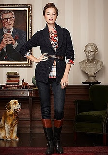 Two-tone riding boot outfit--fabulous!